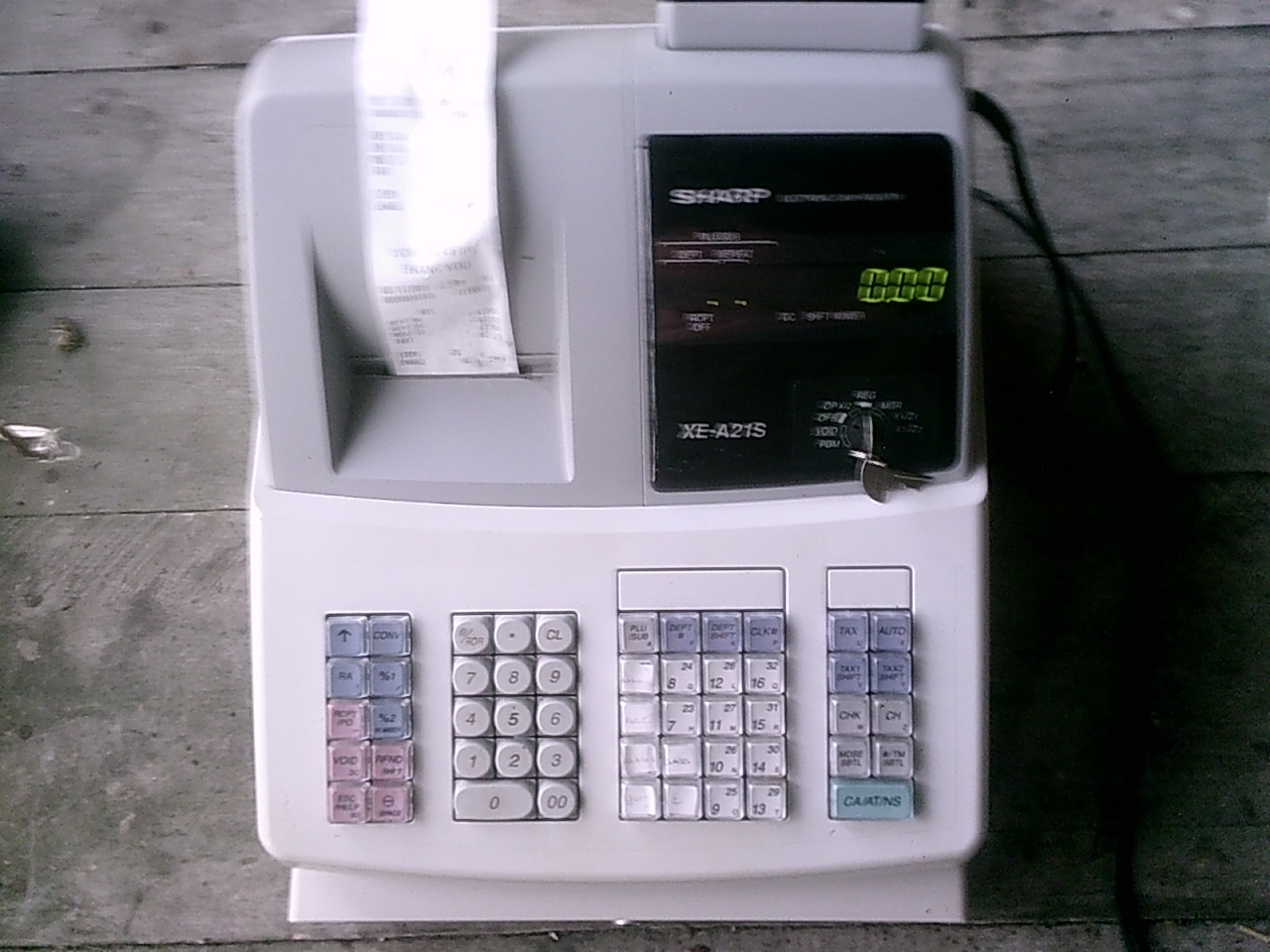 sharp cash register in manchester tn exchange931 com rh exchange931 com Sharp Electronic Cash Register Sharp XE A202 Cash Drawer